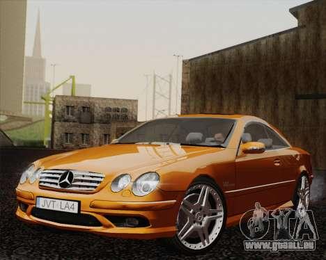 Mercedes-Benz CL65 pour GTA San Andreas sur la vue arrière gauche