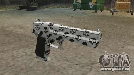 Pistole Desert Eagle Skull für GTA 4