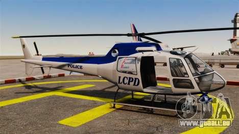 GTA V Police Maverick pour GTA 4 est une vue de l'intérieur
