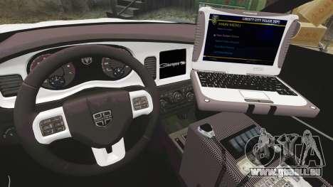 Dodge Charger 2012 LCPD [ELS] pour GTA 4 Vue arrière