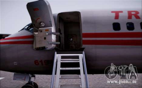 McDonnel Douglas DC-9-10 für GTA San Andreas Unteransicht