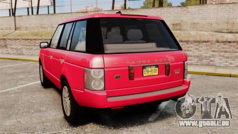 Range Rover TDV8 Vogue für GTA 4 hinten links Ansicht