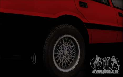 FSO Polonez Caro 1.4 GLI 16V pour GTA San Andreas sur la vue arrière gauche