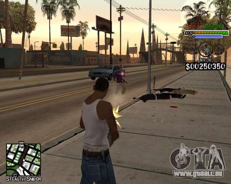 C-HUD by Stealth Sniper für GTA San Andreas zweiten Screenshot