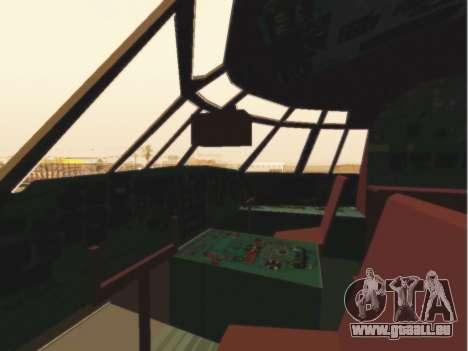 Gazpromavia il-76td pour GTA San Andreas vue de côté
