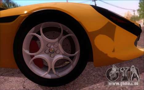 Alfa Romeo TZ3 2011 pour GTA San Andreas vue intérieure