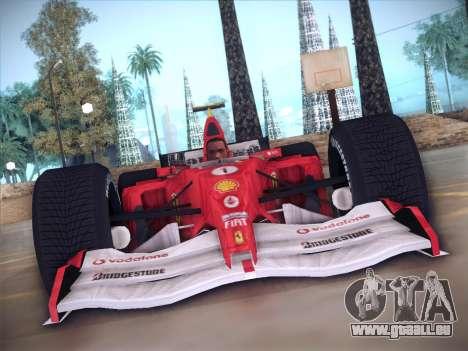 Ferrari F1 2005 für GTA San Andreas Innenansicht