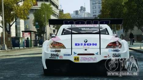 BMW Z4 GT3 2010 pour GTA 4 roues