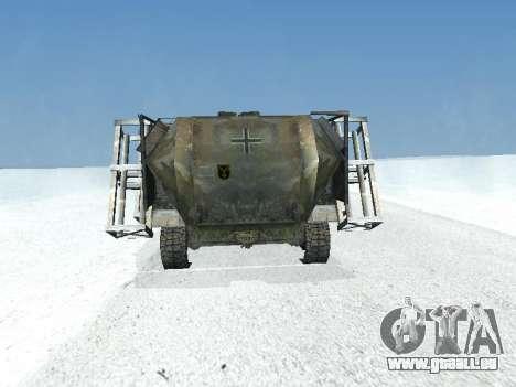 SdKfz 251 für GTA San Andreas Innenansicht