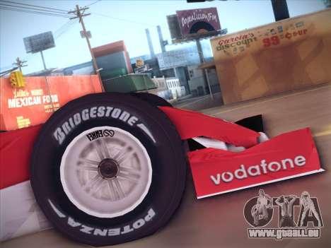 Ferrari F1 2005 für GTA San Andreas rechten Ansicht