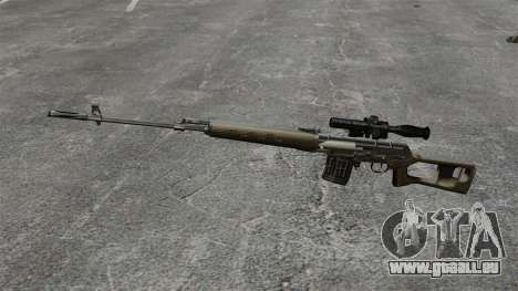 Dragunov Scharfschütze-Gewehr-v2 für GTA 4 dritte Screenshot