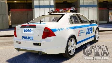 Ford Fusion LCPD 2011 [ELS] pour GTA 4 est une gauche