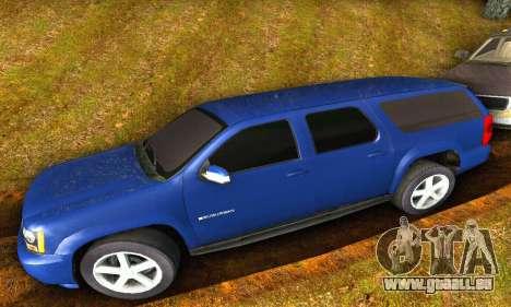 Chevrolet Suburban 2008 für GTA San Andreas zurück linke Ansicht