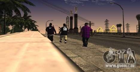 HQ SkinPack Ballas pour GTA San Andreas troisième écran
