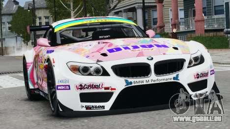 BMW Z4 GT3 2010 pour GTA 4 est une gauche