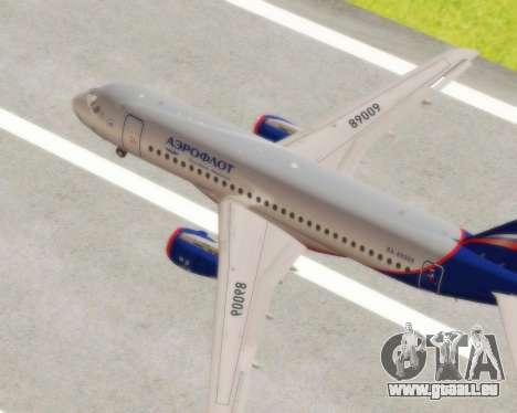 Suchoi Superjet 100-95 Aeroflot für GTA San Andreas rechten Ansicht