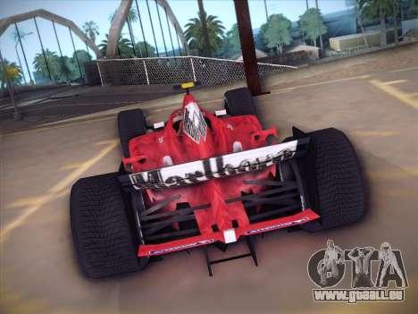Ferrari F1 2005 pour GTA San Andreas vue arrière