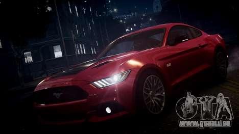 Ford Mustang GT 2015 pour GTA 4 est une vue de dessous