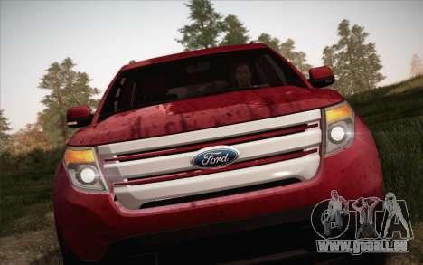 Ford Explorer 2013 pour GTA San Andreas vue arrière
