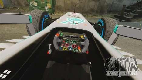 Mercedes AMG F1 W04 v6 für GTA 4 Innenansicht
