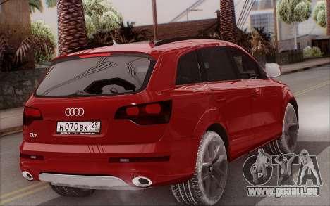 Audi Q7 Winter pour GTA San Andreas laissé vue