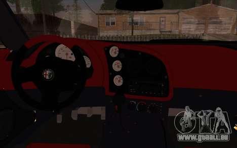 Alfa Romeo TZ3 2011 pour GTA San Andreas vue arrière
