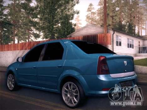 Dacia Logan GrayEdit pour GTA San Andreas laissé vue