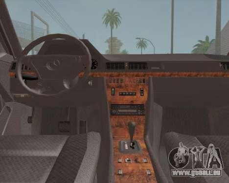 Mercedes-Benz W124 E500 für GTA San Andreas Rückansicht