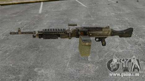 Mitrailleuse polyvalente M240B pour GTA 4 troisième écran
