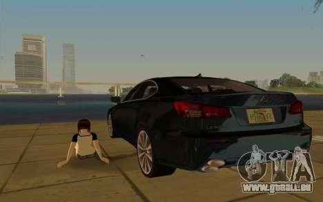 Lexus IS-F pour une vue GTA Vice City d'en haut