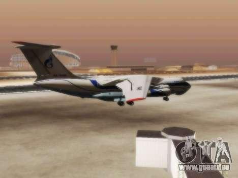 Il-76td Gazpromavia für GTA San Andreas rechten Ansicht
