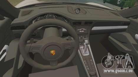 Porsche 911 Turbo 2014 [EPM] TechArt Design pour GTA 4 Vue arrière