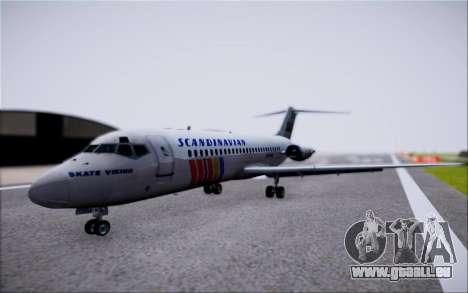 McDonnel Douglas DC-9-10 pour GTA San Andreas vue arrière