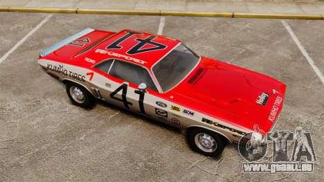 Dodge Challenger 1971 v1 pour GTA 4 est une vue de dessous
