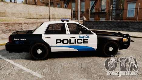 Ford Crown Victoria Police Interceptor [ELS] für GTA 4 linke Ansicht