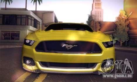 Ford Mustang 2015 Swag für GTA San Andreas Rückansicht