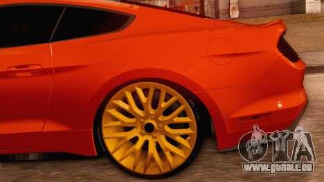 Ford Mustang GT 2015 pour GTA San Andreas vue intérieure
