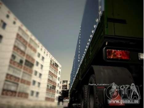 KAMAZ 54115 pour GTA San Andreas sur la vue arrière gauche