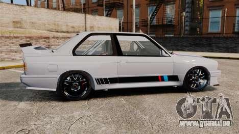 BMW M3 1990 Race version pour GTA 4 est une gauche