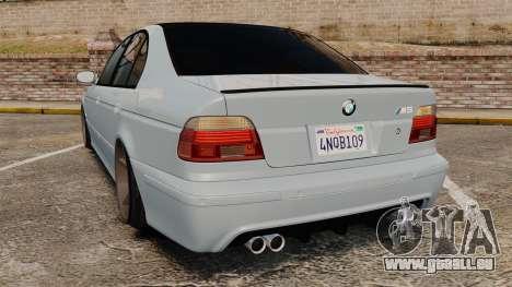 BMW M5 E39 2003 für GTA 4 hinten links Ansicht