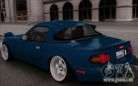 Mazda Miata für GTA San Andreas Seitenansicht