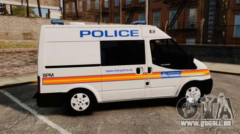 Ford Transit 2013 Police [ELS] für GTA 4 linke Ansicht