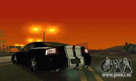Dodge Charger DUB pour GTA San Andreas vue de dessous