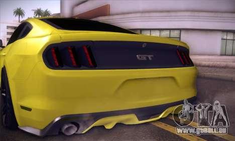 Ford Mustang 2015 Swag für GTA San Andreas Innenansicht