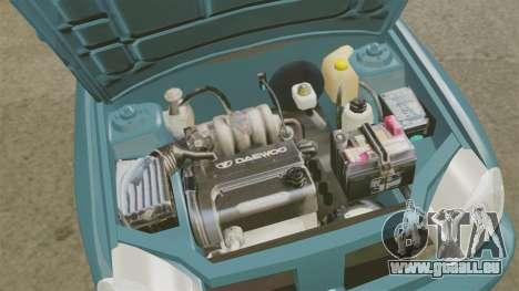 Daewoo Lanos PL 2001 pour GTA 4 est une vue de l'intérieur