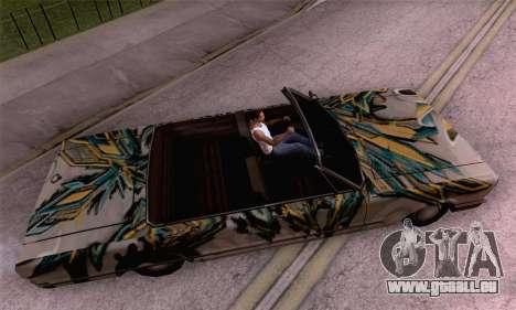 Les travaux de peinture pour la savane pour GTA San Andreas sur la vue arrière gauche