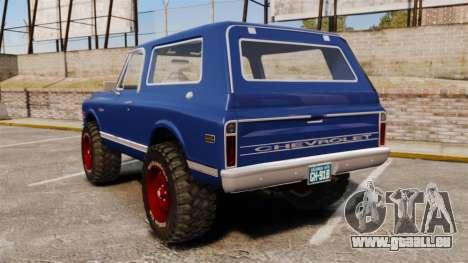 Chevrolet Blazer K5 1972 für GTA 4 hinten links Ansicht