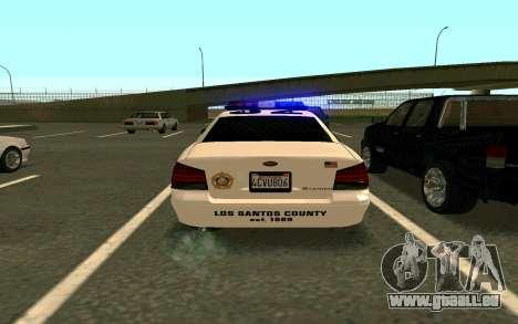 GTA V Sheriff Cruiser für GTA San Andreas linke Ansicht