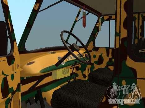 UAZ 469 Camo pour GTA San Andreas vue arrière