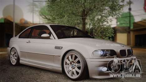 BMW E46 M3 Coupe pour GTA San Andreas vue de droite